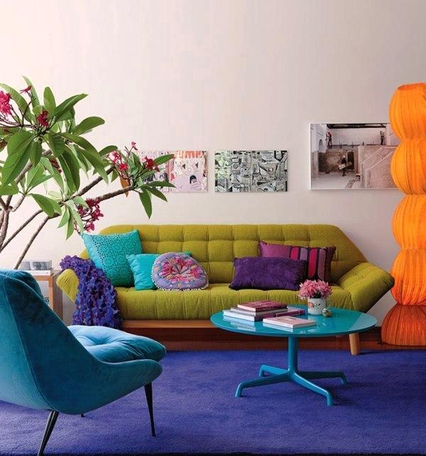 Colorful Living Room Design Online: Home Décor - Colour Tips