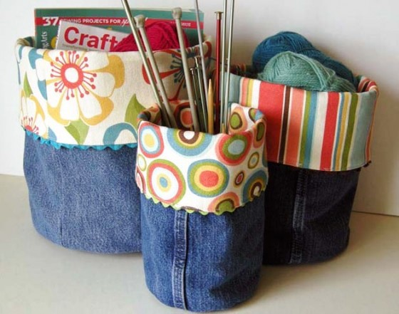 Denim Storage bins