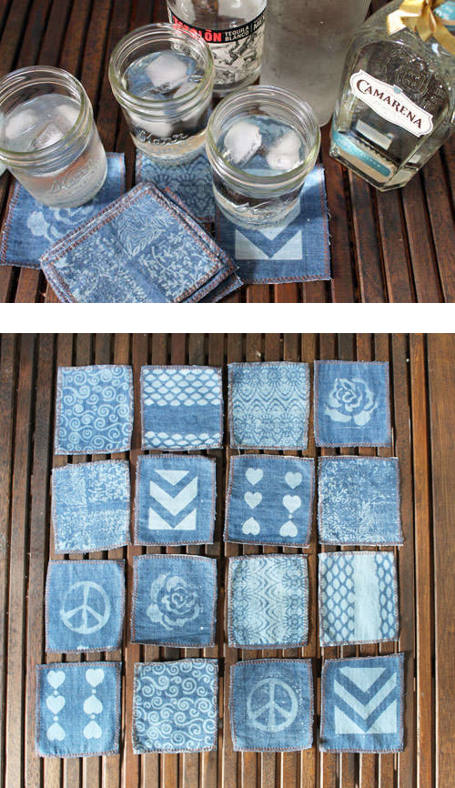 Denim cocktail napkins
