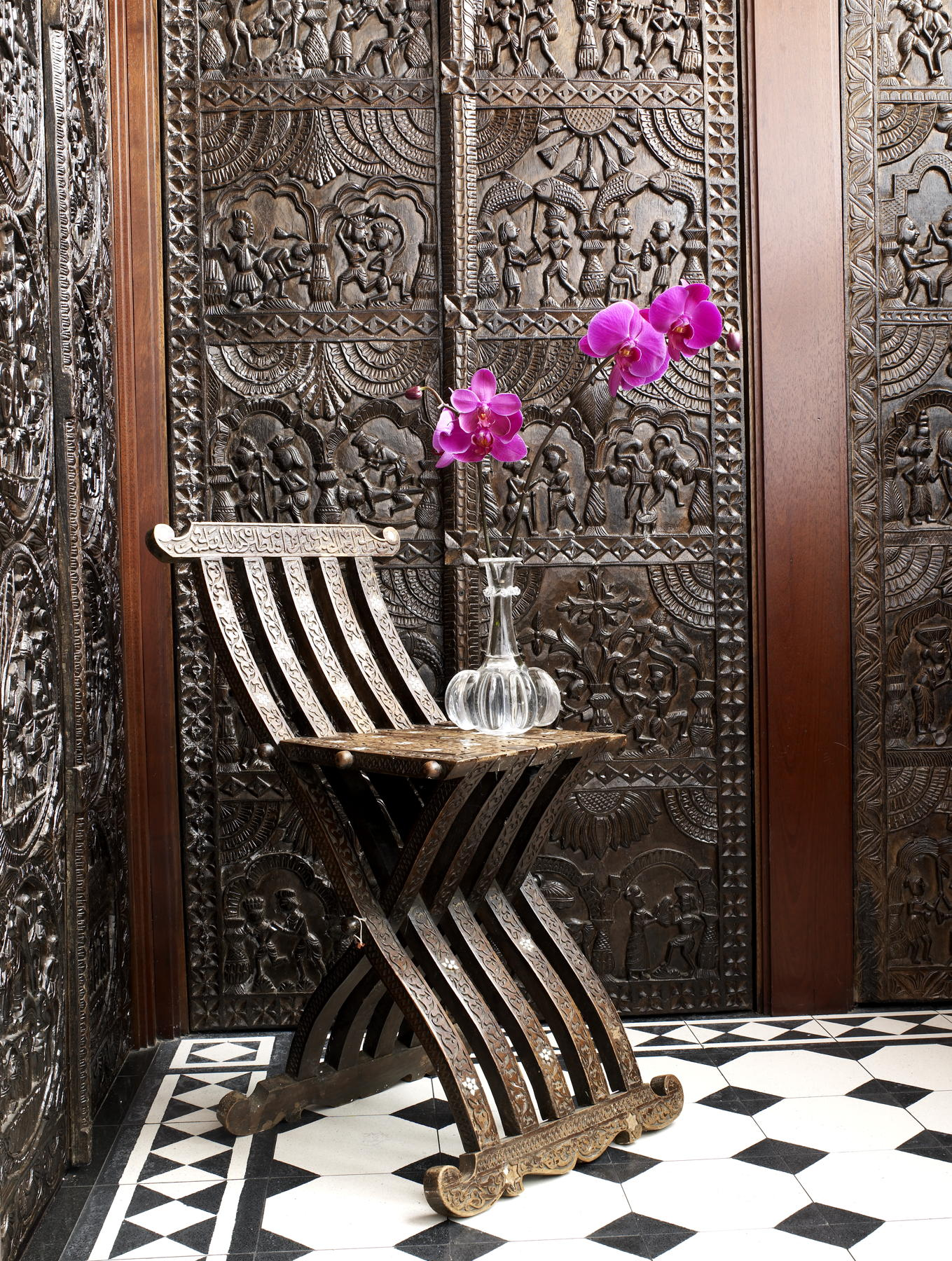 Ethnic Wall And Chair