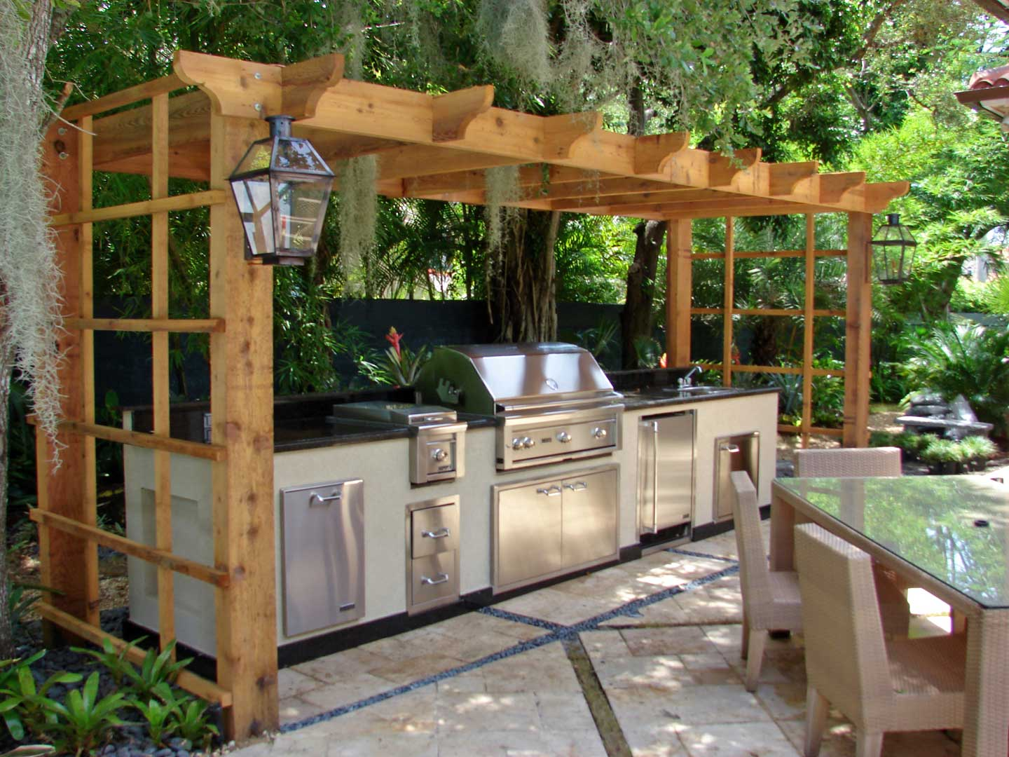 Garden patio designs ideas my decorative for Outdoor kitchen pictures design ideas