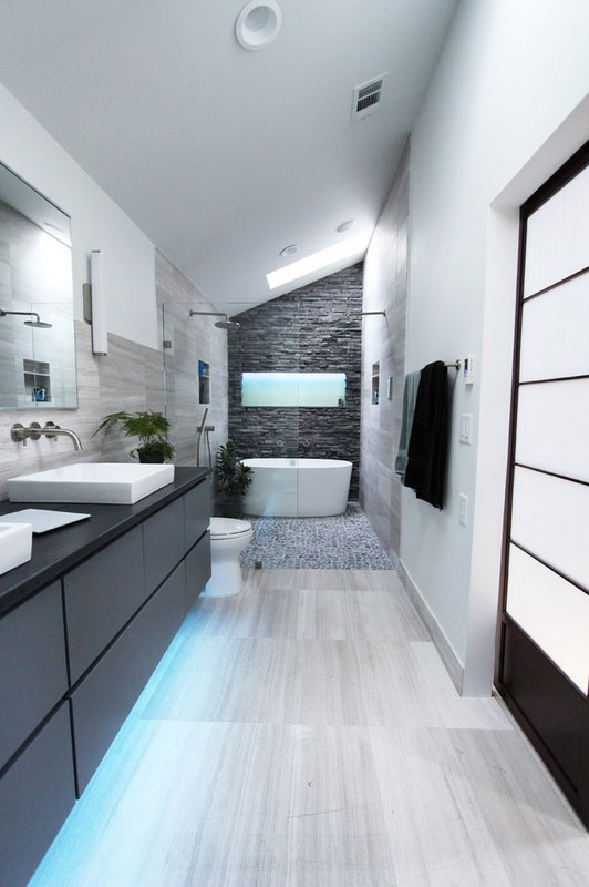 Cool Gray Bathroom