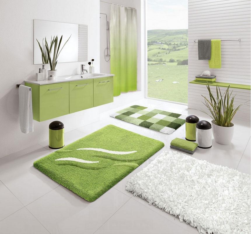 Green Contemporary Bathroom