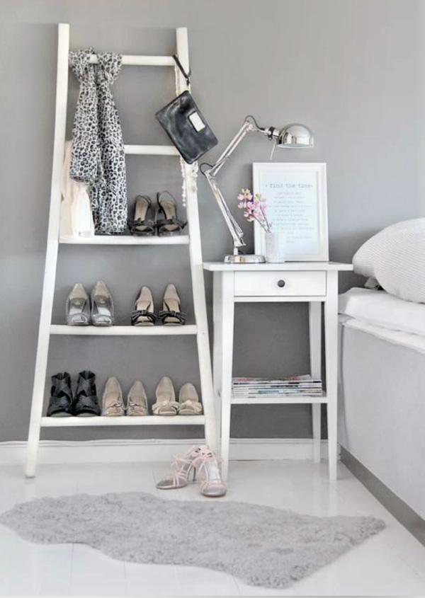Homemade Shoe Rack Ladder