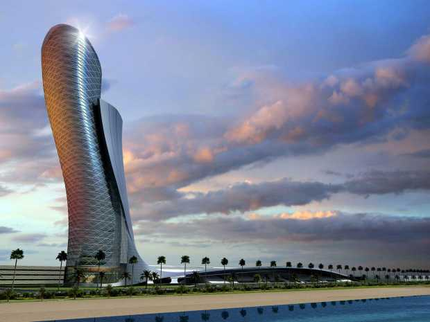 Capital Gate The Modern Architecture Skyscrappers in Abu Dhabi