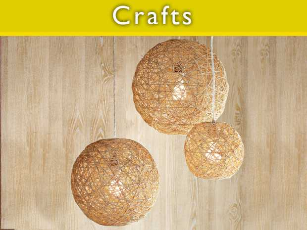 Easily make Thread Ball Lamp