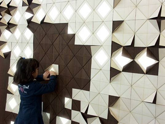 Modern Origami Art wall