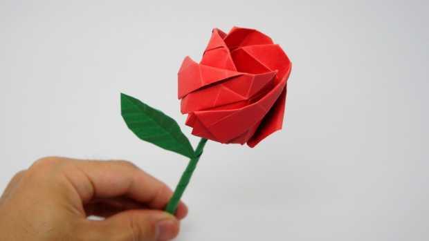 Origami Rose Flower