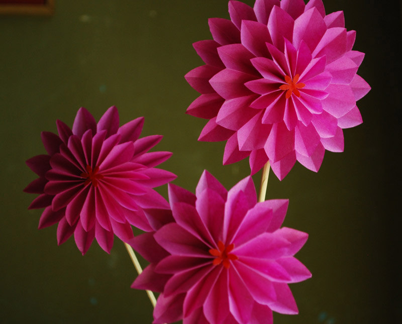 Variety Of Origami Flower Designs My Decorative