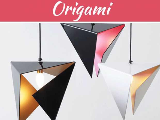 Modern origami décor
