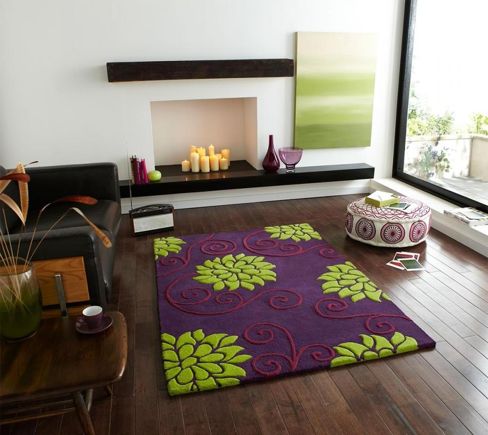 Awesome Floral Rug With Purple As Major Color. D cor Ideas of Home for Single Woman   My Decorative