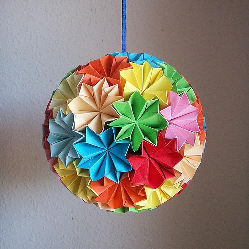 Make origami christmas ornaments my decorative for Decoration origami