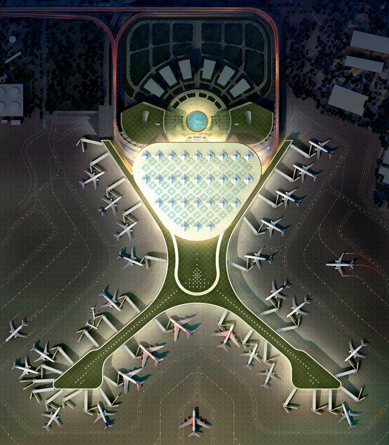 Mumbai Airport Designed layout