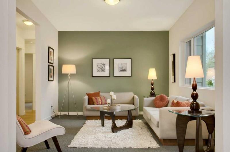 Olive Living Room Interior Design