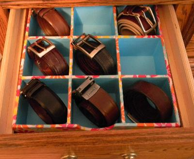 Sock Organiser Belts