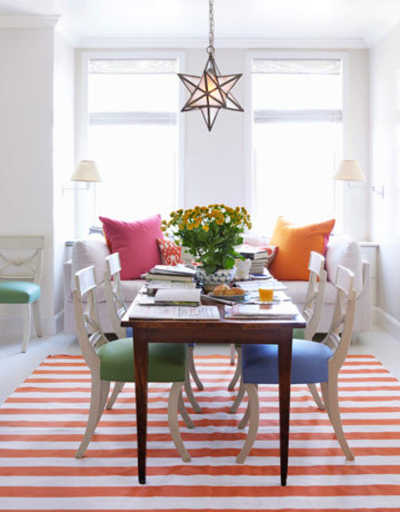 Colorful Bright Dining Room Interior Designs 0910