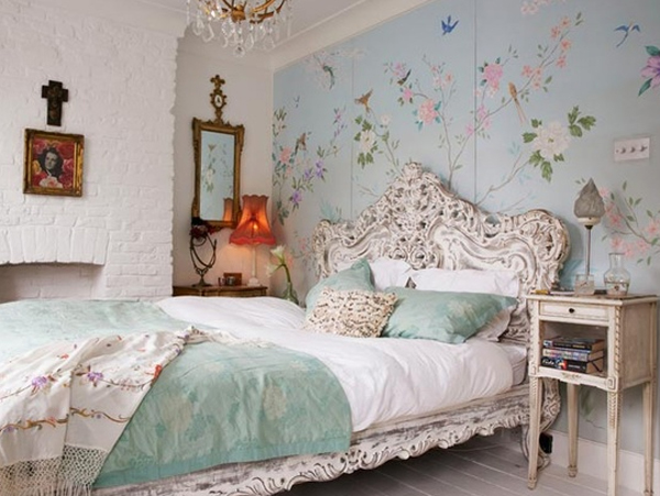 Floral Blue Bedroom Ideas
