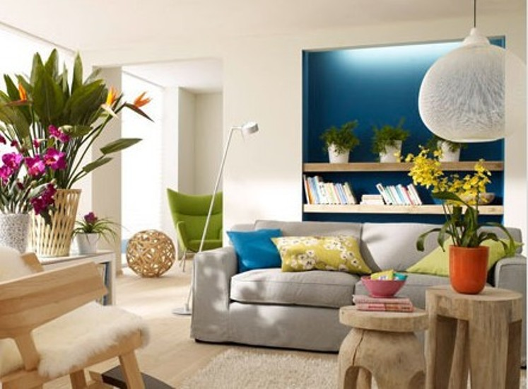 Sweet Living Room Interiors For Women
