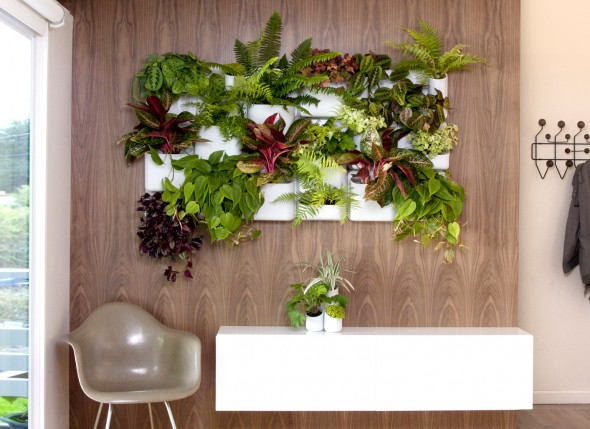 Beautiful Small Living Room Indoor Vertical Garden Design