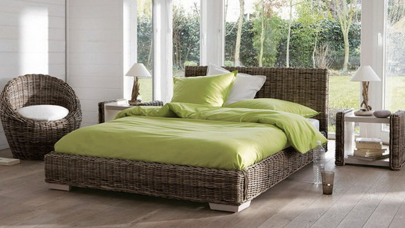Green Exotic Bedroom Interior Design Ideas