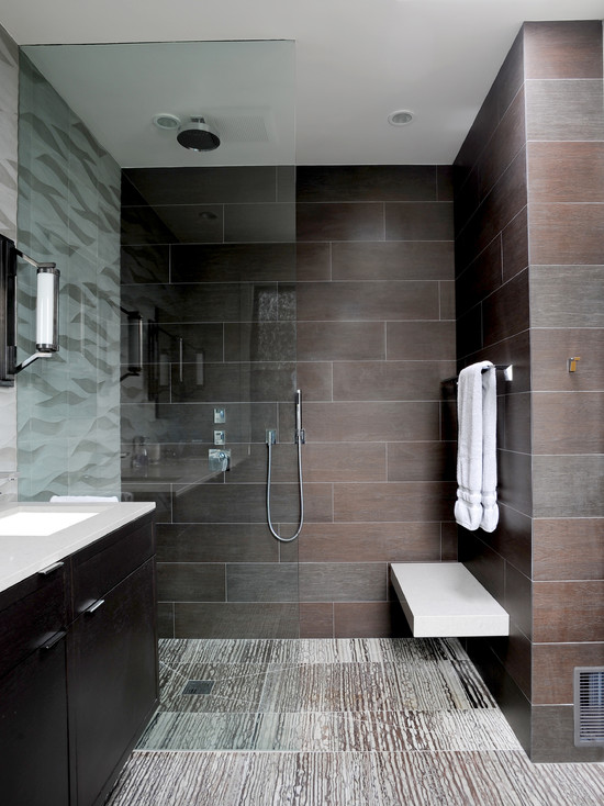 Modern-Bathroom-With-Glass-Wall-And-Towel-Hanger-Modern-Bathroom-Tile-Design-Ideas-2014