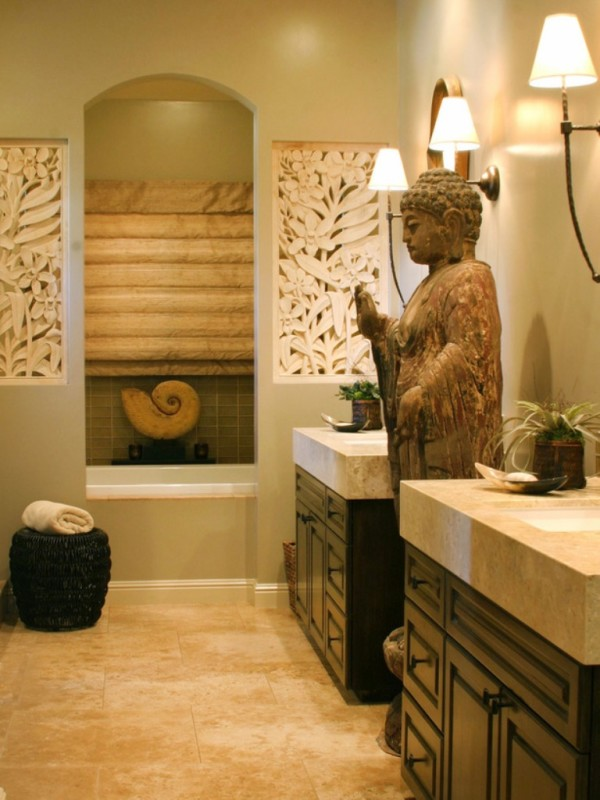 Bathroom Big Statuette Buddha