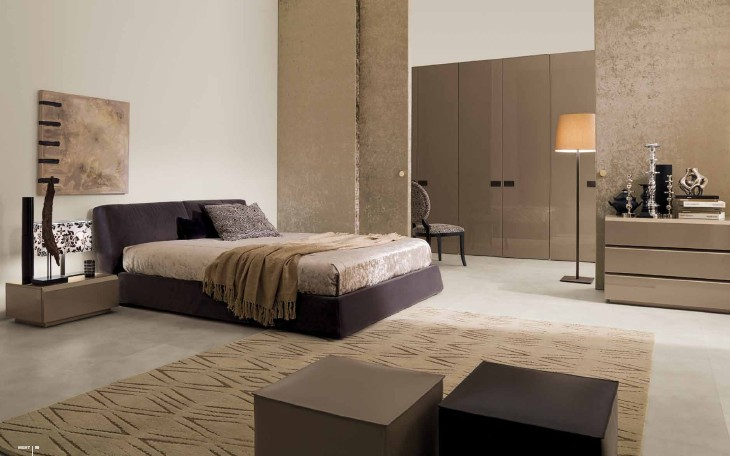 Innovative modern bedroom interior designs my decorative for Bedroom with brown carpet
