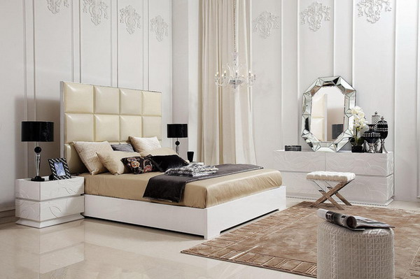 Charming Tone for Natural Bedroom Design Ideas with Modern Furniture Set