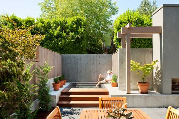 Modern Garden Contemporary Patio