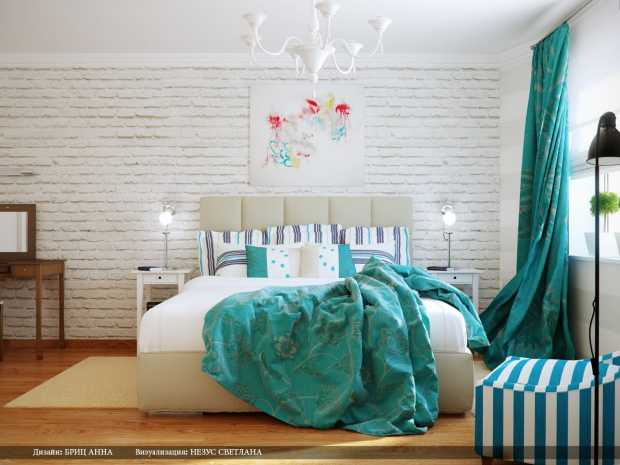 Turquois Bedroom Interior Design