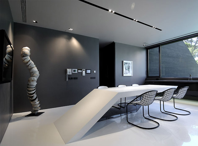 Ultra Modern Black White Glossy Dining Room And Kitchen Design Ideas 2 My Decorative