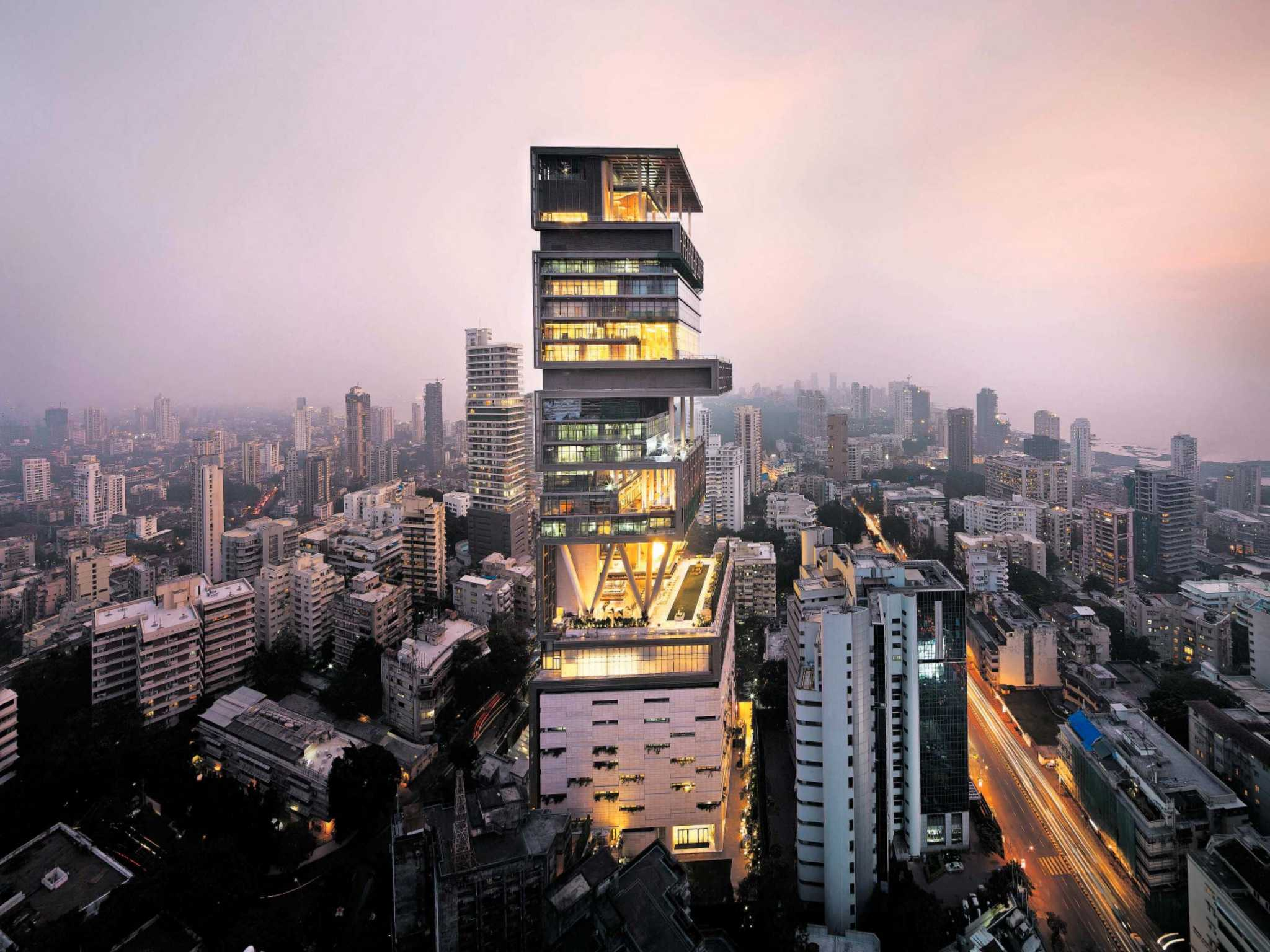 Antilia - Reliance Industries' Chairman Mukesh Ambani's Dream House