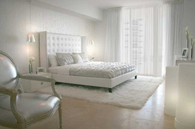 Elegant White Bedroom Rug