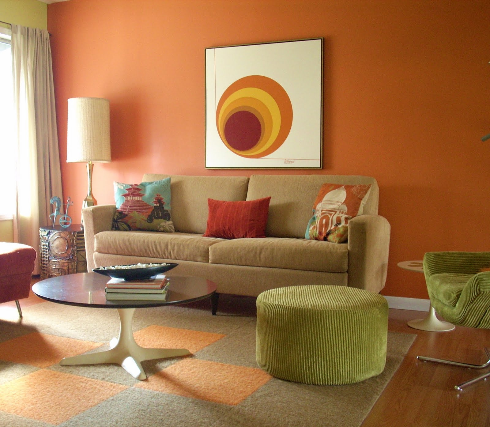 beautiful orange living room ideas contemporary