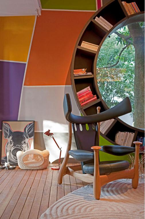 Colorful Decorative Book Shelf