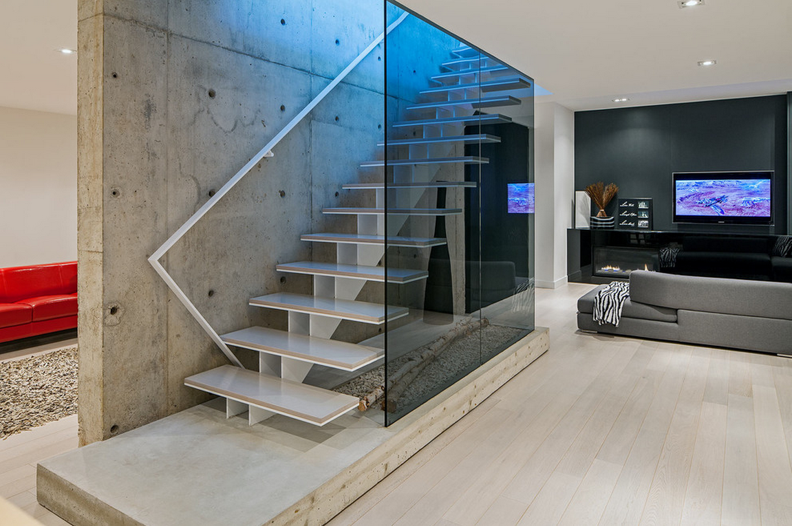 Modern vs traditional stairs which is right for me my for Modern glass designs