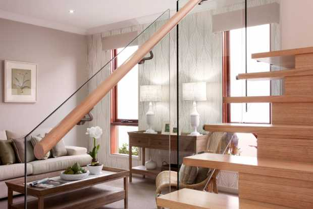 Modern Stairs Glass Railings