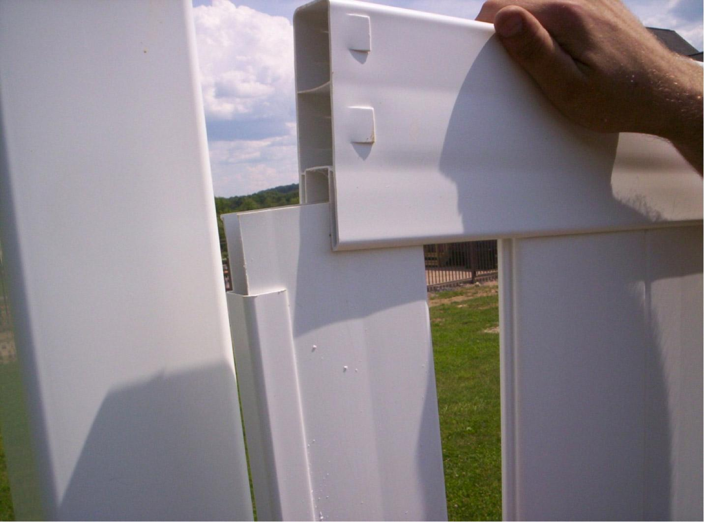 How to replace vinyl fence panels 3 easy steps my for Easy fence installation