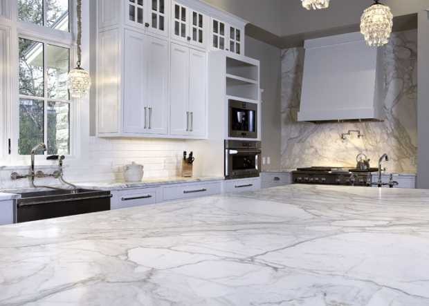 Calacatta and Carrara Marbles