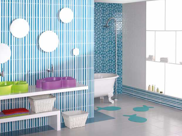 Colorful Bathroom Walls