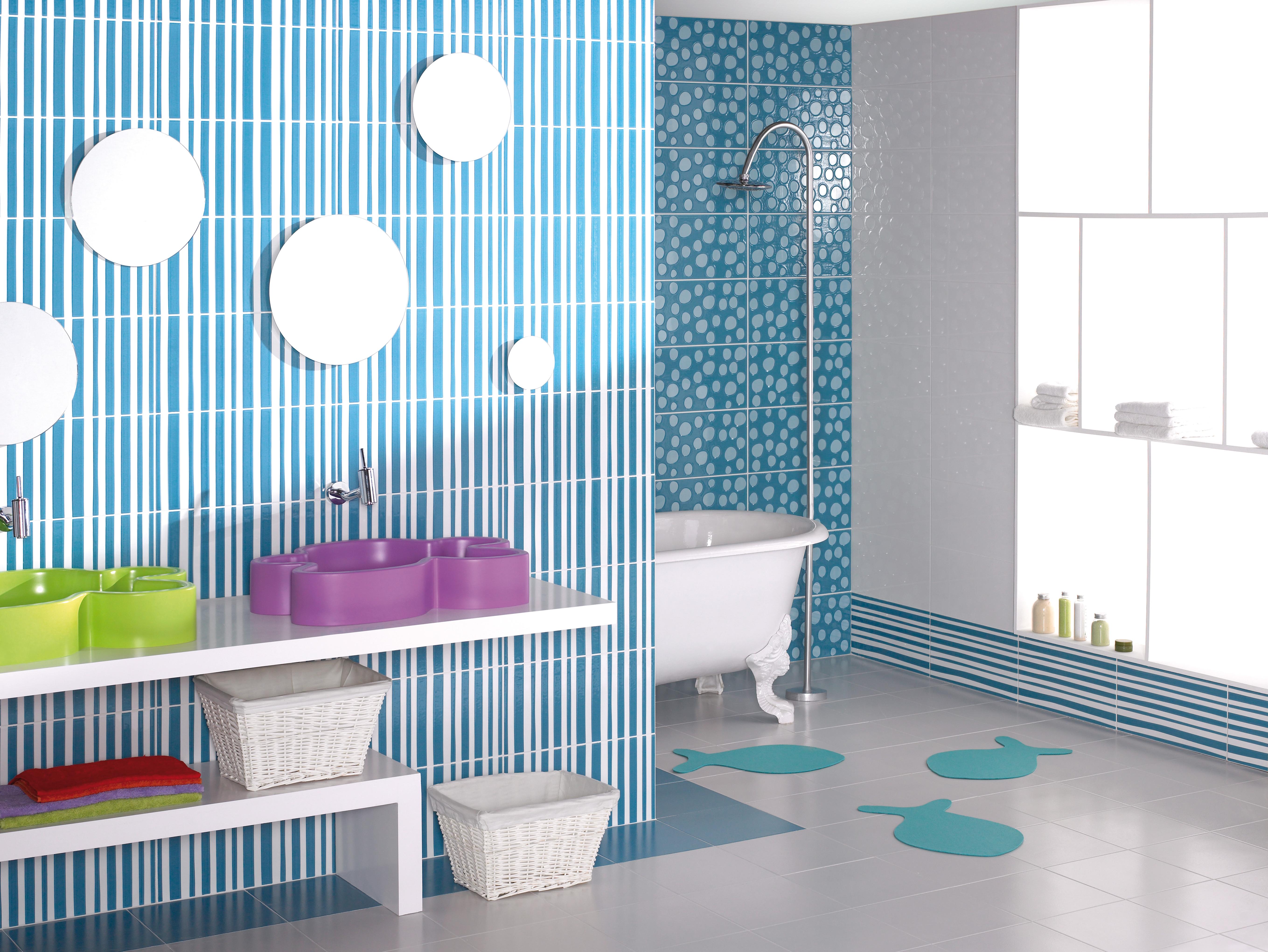Colorful Bathroom Walls