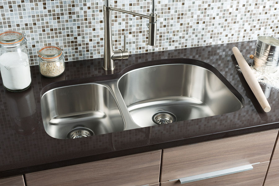 Hahn Chef Series Extra Large 70/30 Double Bowl Sink