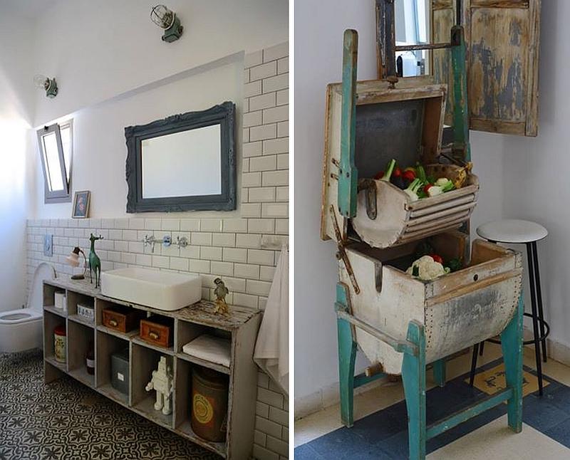 Stylized Rustic Bathroom Interior