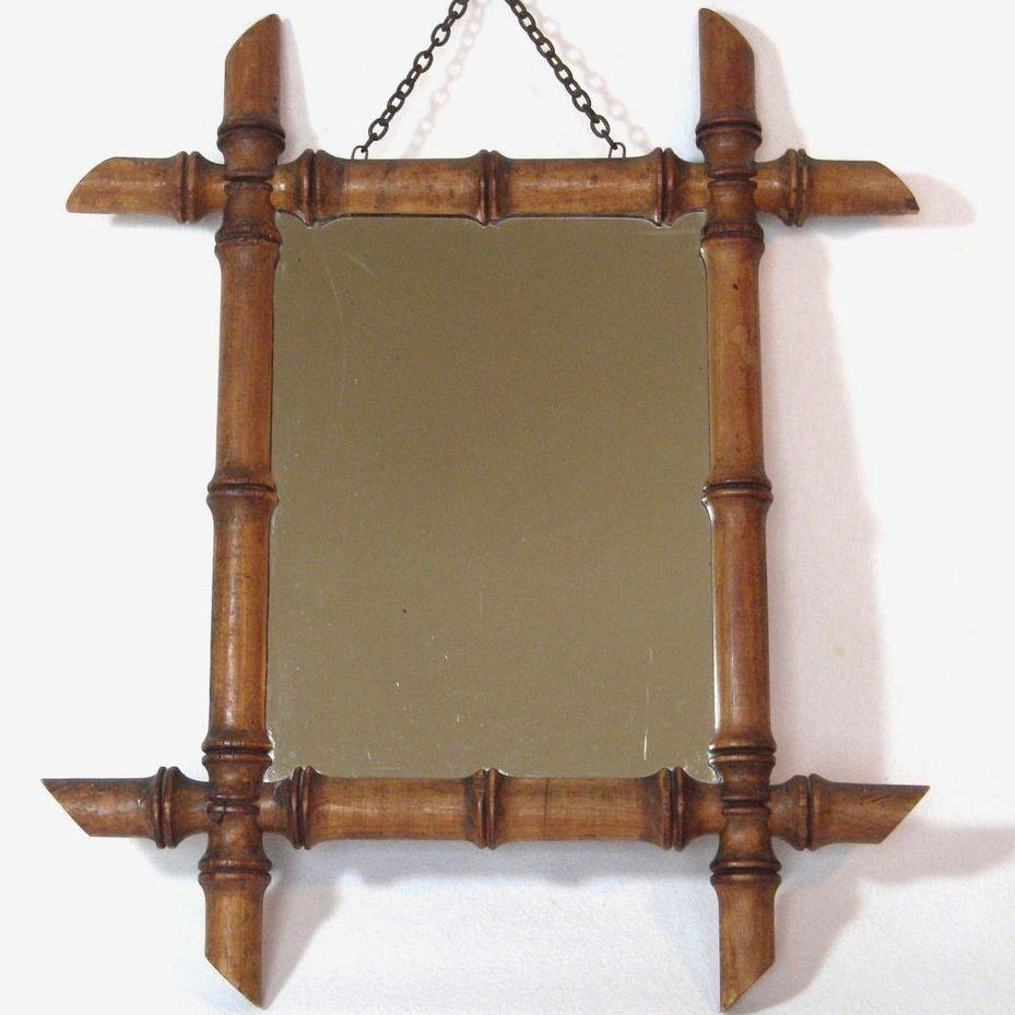 Bamboo Framed Mirrors