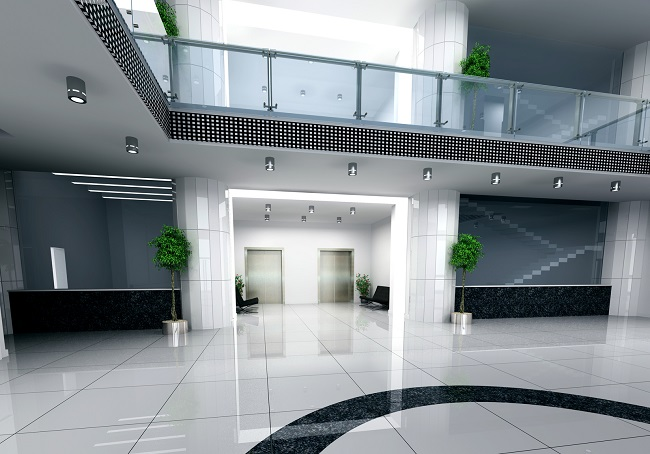 Modern Business Hall Design Interior (3D Rendering)