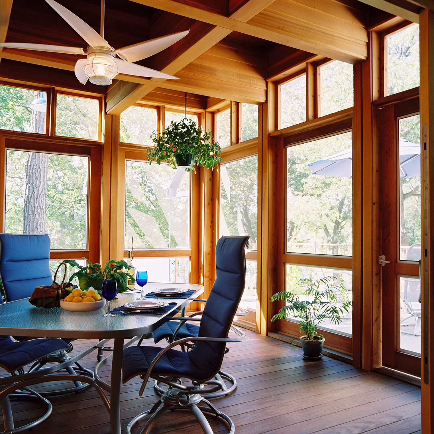 creating a beautifully transitional enclosed porch my