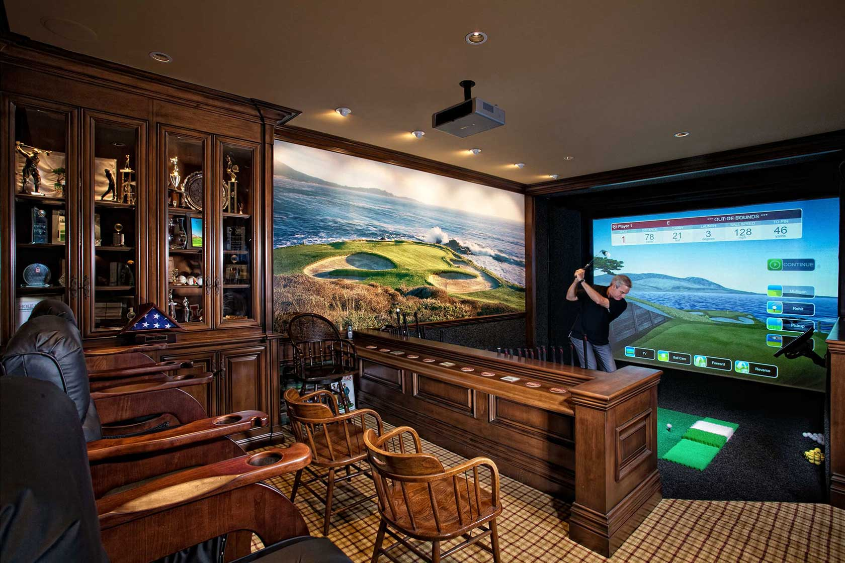 A Man Cave As A Private Cigar Bar