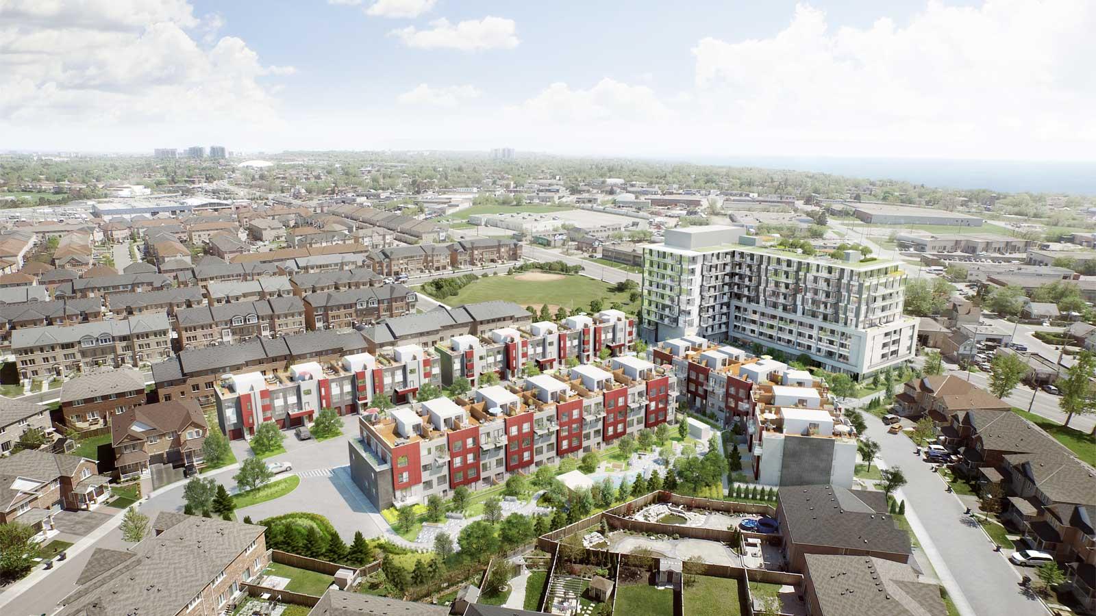 Danforth Square Aerial View