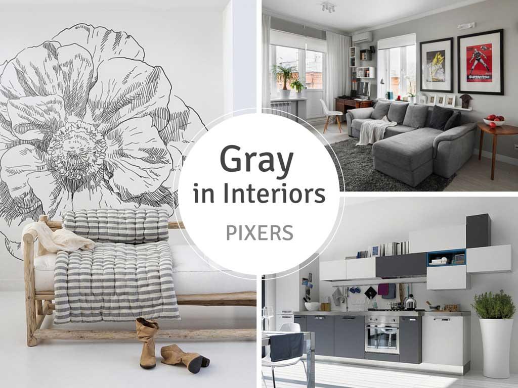 Gray Interiors PIXERS