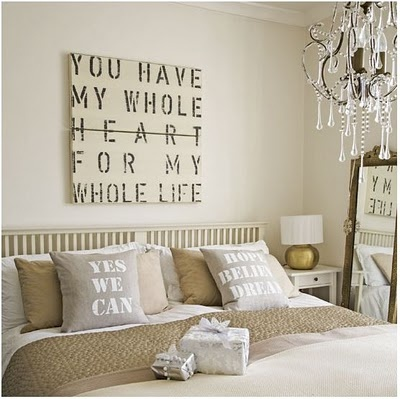 Wooden Sign Bedroom